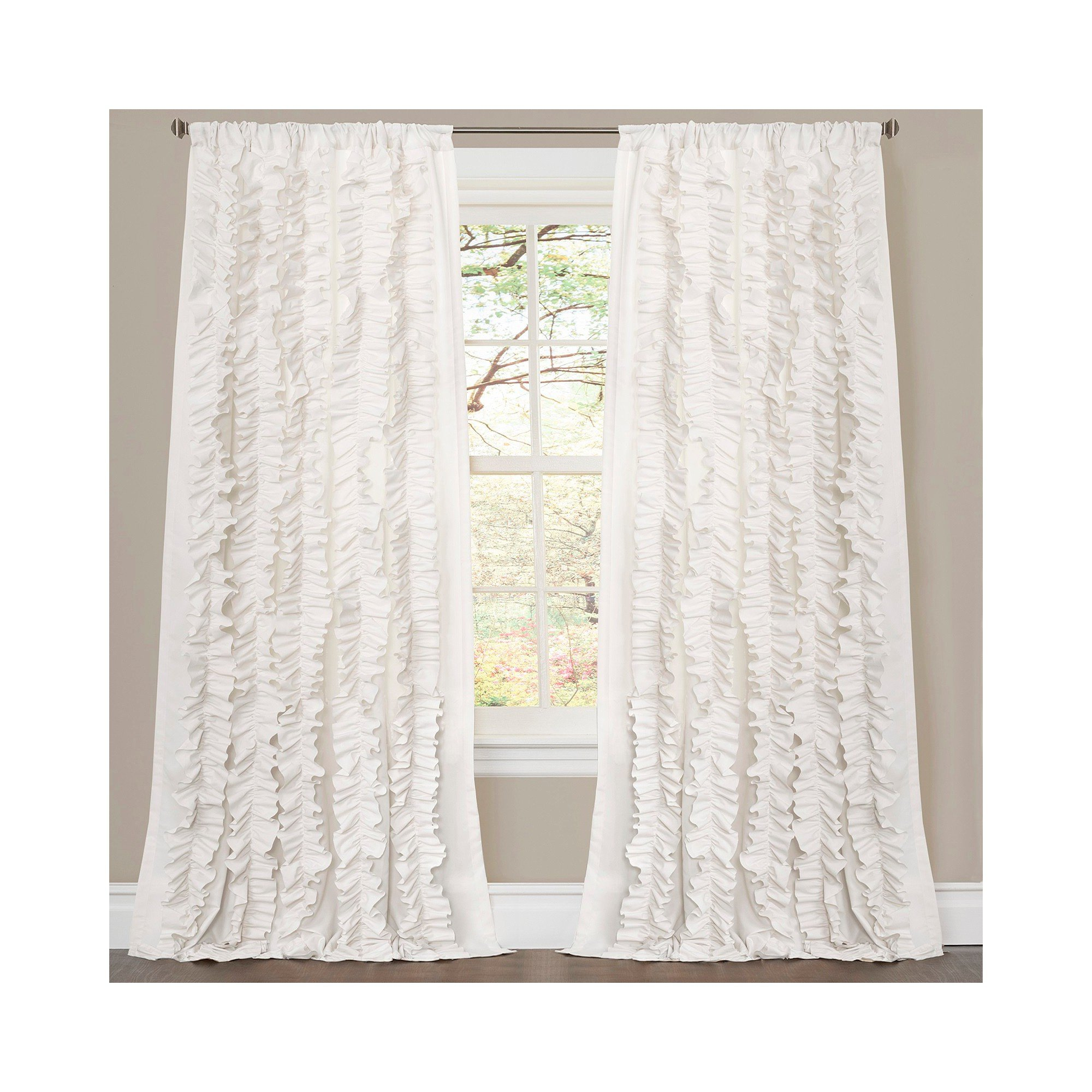 "Bedroom Curtains at Walmart Awesome Belle Curtain Panel White 84""x54"" Lush Decor"