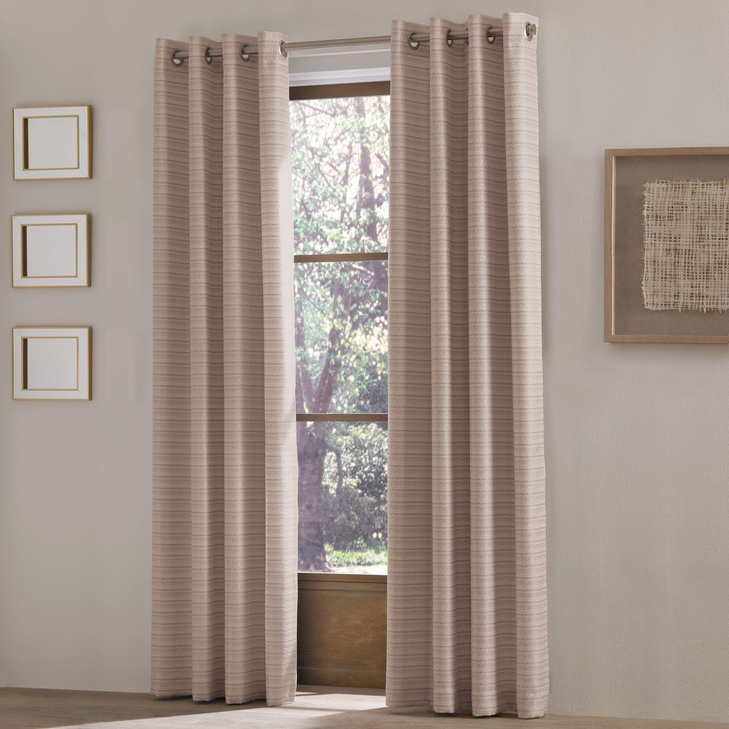 "Bedroom Curtains at Walmart Awesome Eleanore Blush 84"" Grommet Curtain"