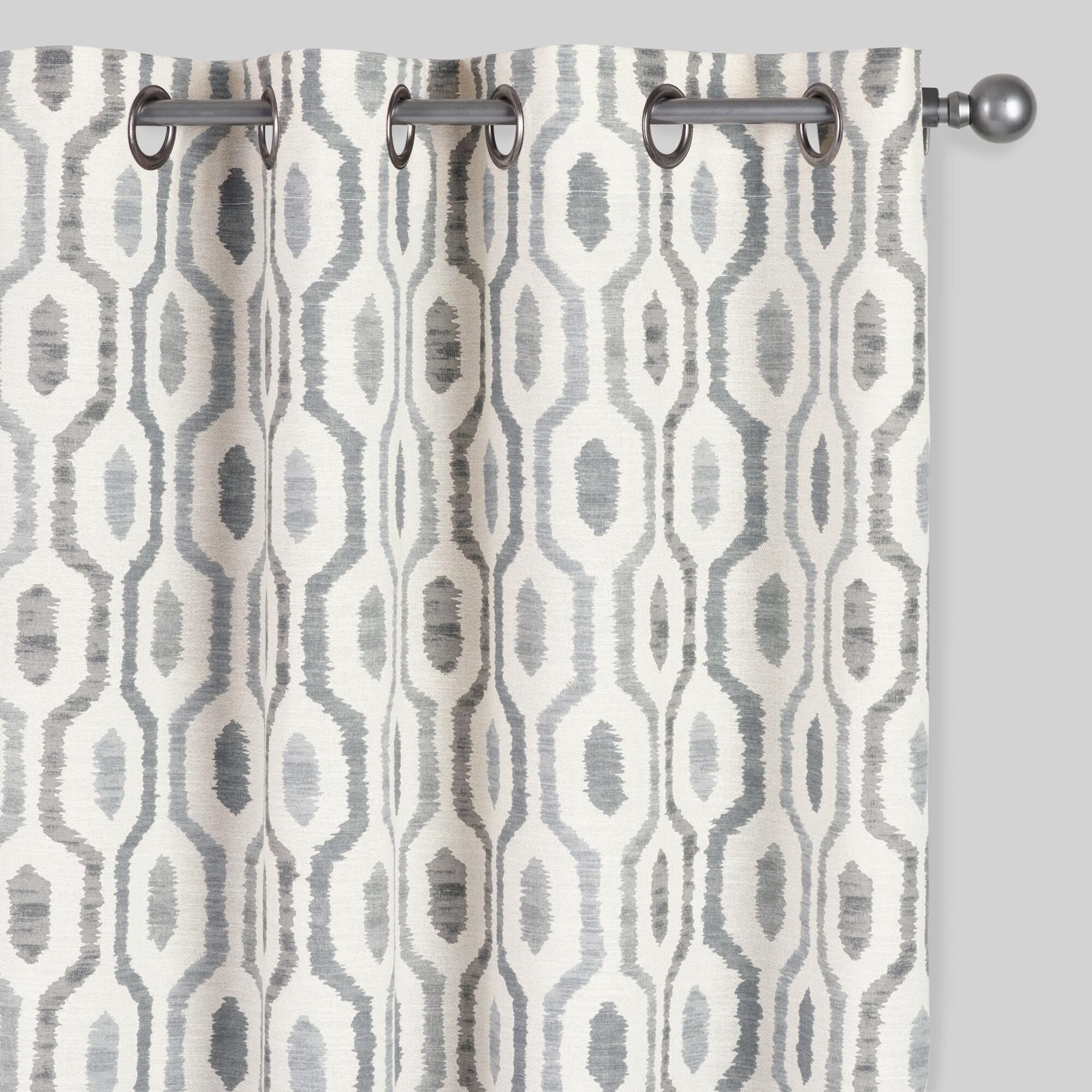Bedroom Curtains at Walmart Fresh Gray Geo Print Jackson Grommet top Curtains Set Of 2