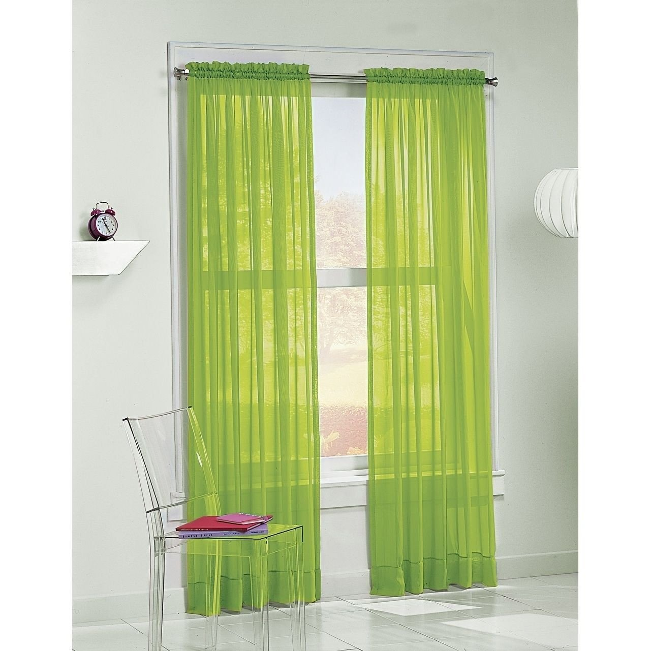 Bedroom Curtains at Walmart New No 918 Calypso 84 Inch Curtain Panel Lime Green Size