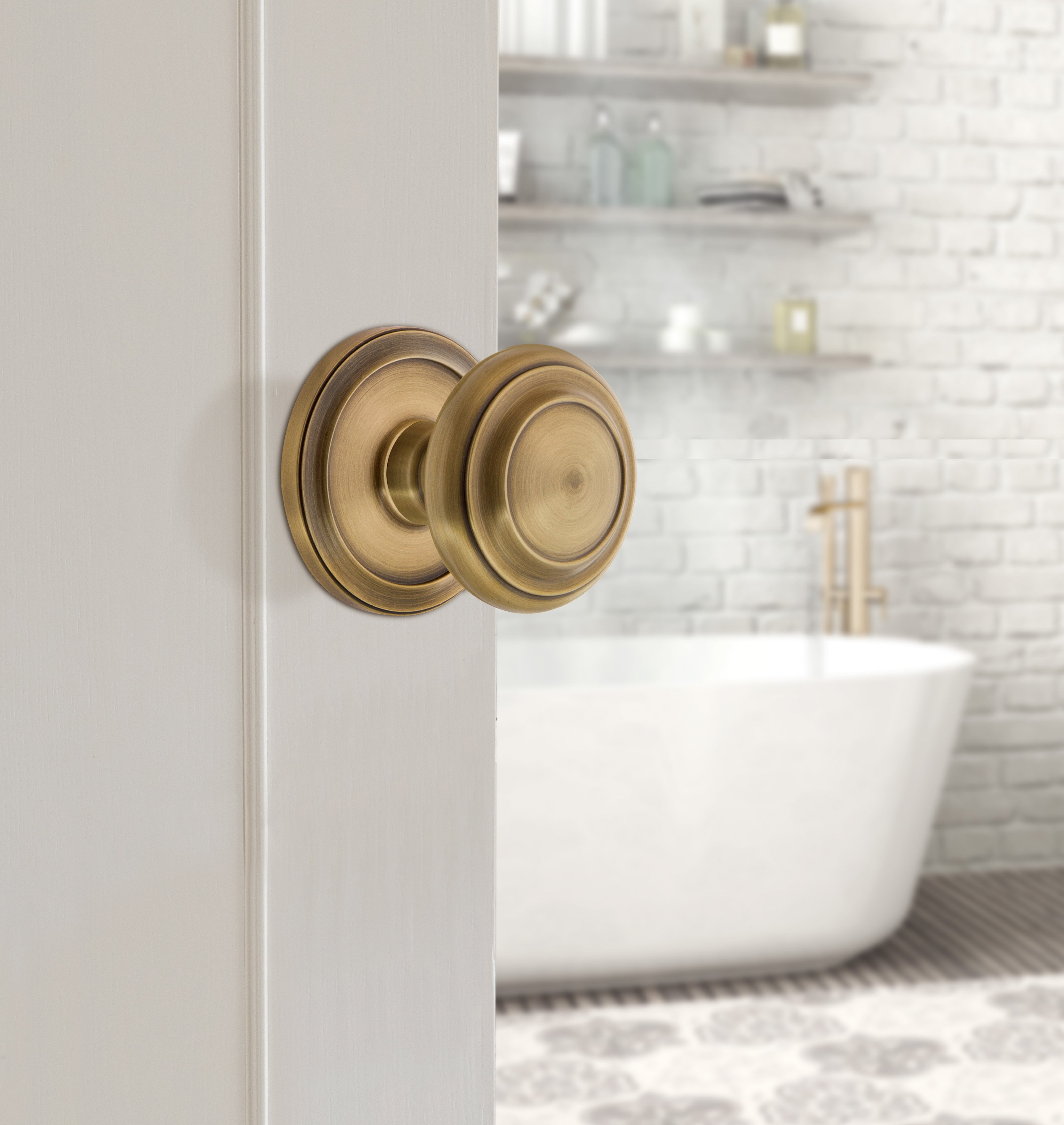 Bedroom Door Knobs with Locks Awesome Circulare Collection Bines Colonial Design Style with