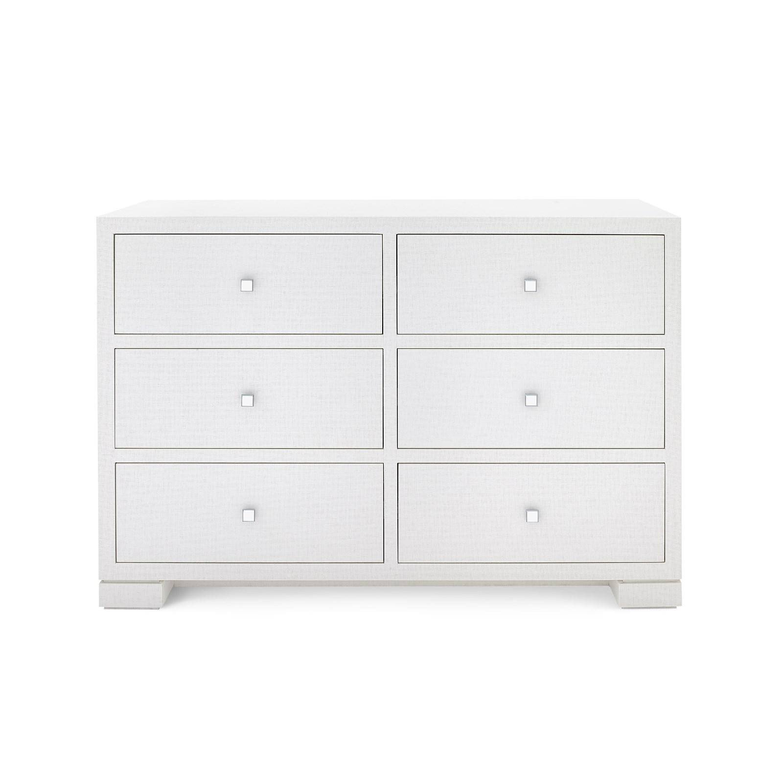 Bedroom Dressers and Chests Awesome Bungalow 5 Frances Modern White Lacquered Grasscloth 6