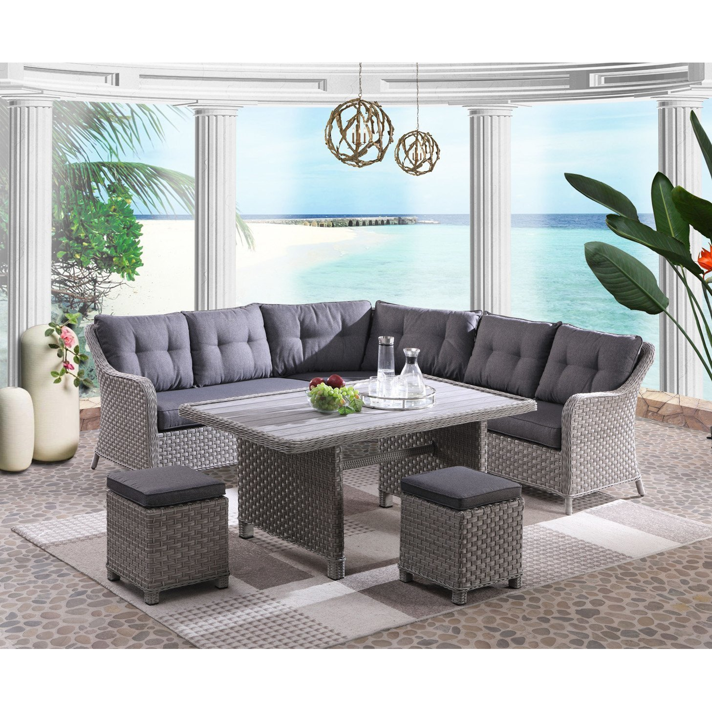 Bedroom Furniture Sale Clearance Luxury Panama Cruise Sectional Dining Set