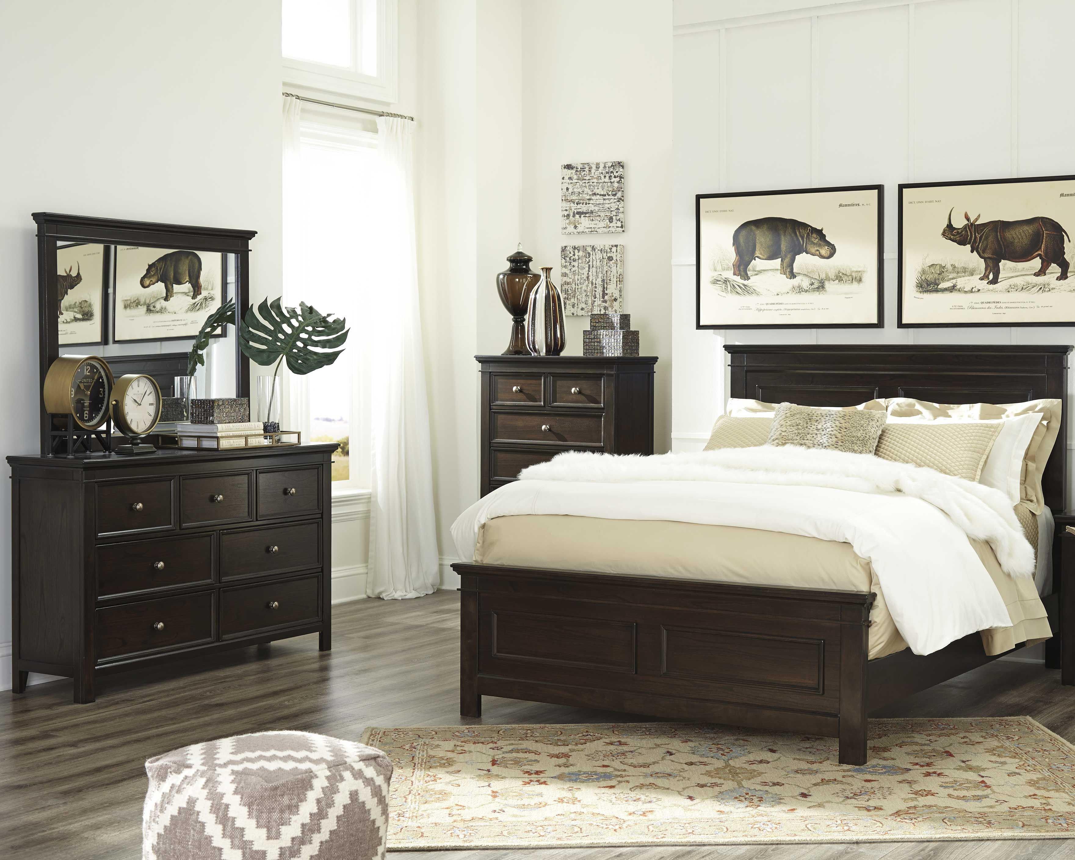 Bedroom Furniture Set Cheap Beautiful Alexee 5 Piece King Bedroom Dark Brown