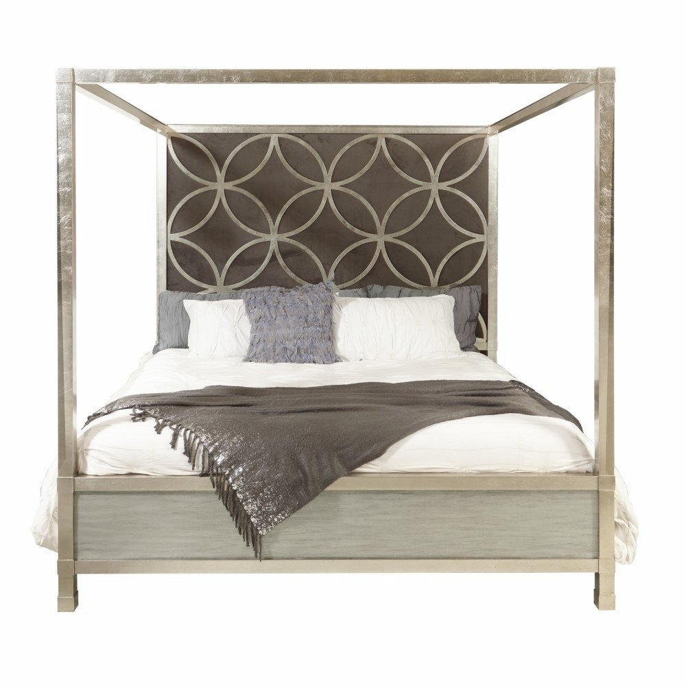 Bedroom Furniture Set King Beautiful Pulaski Velvet Quatrefoil King Canopy Bed D199 Br K4