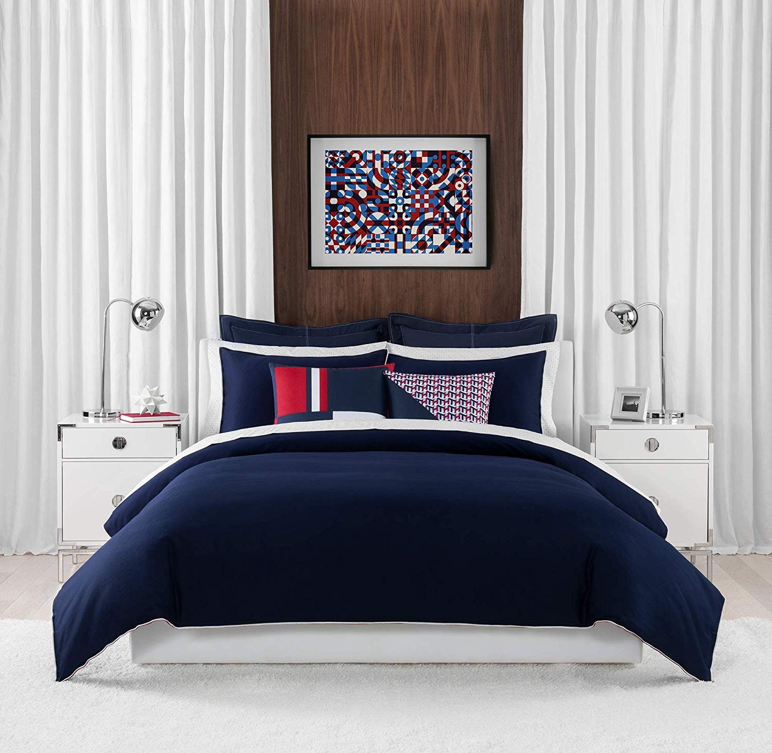 Bedroom In A Bag with Curtains Elegant Amazon tommy Hilfiger Classic Pique Bedding Collection