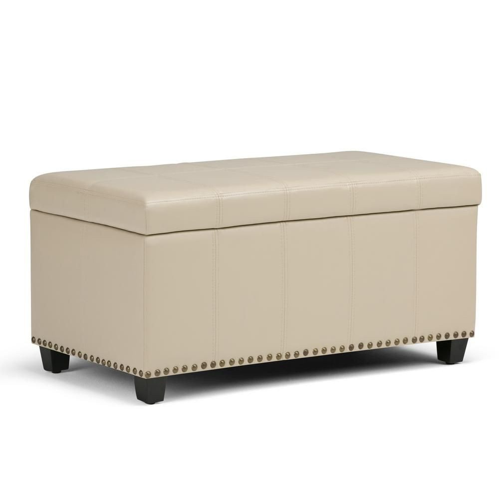 Bedroom Ottoman Storage Bench Elegant Simpli Home Amelia 34 In Traditional Storage Ottoman In