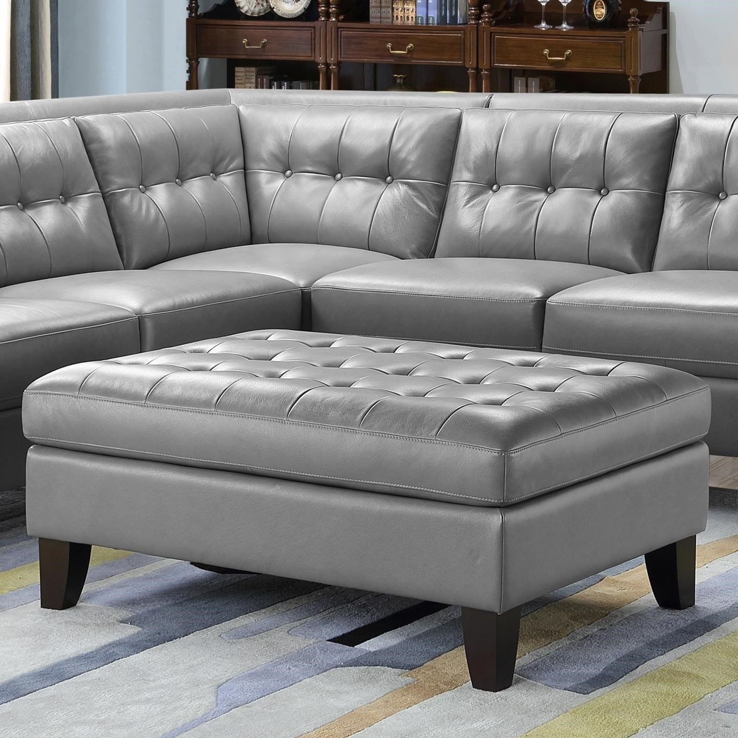 Bedroom Ottoman Storage Bench Luxury Leather Italia Usa Malibu Rectangular Leather Ottoman with