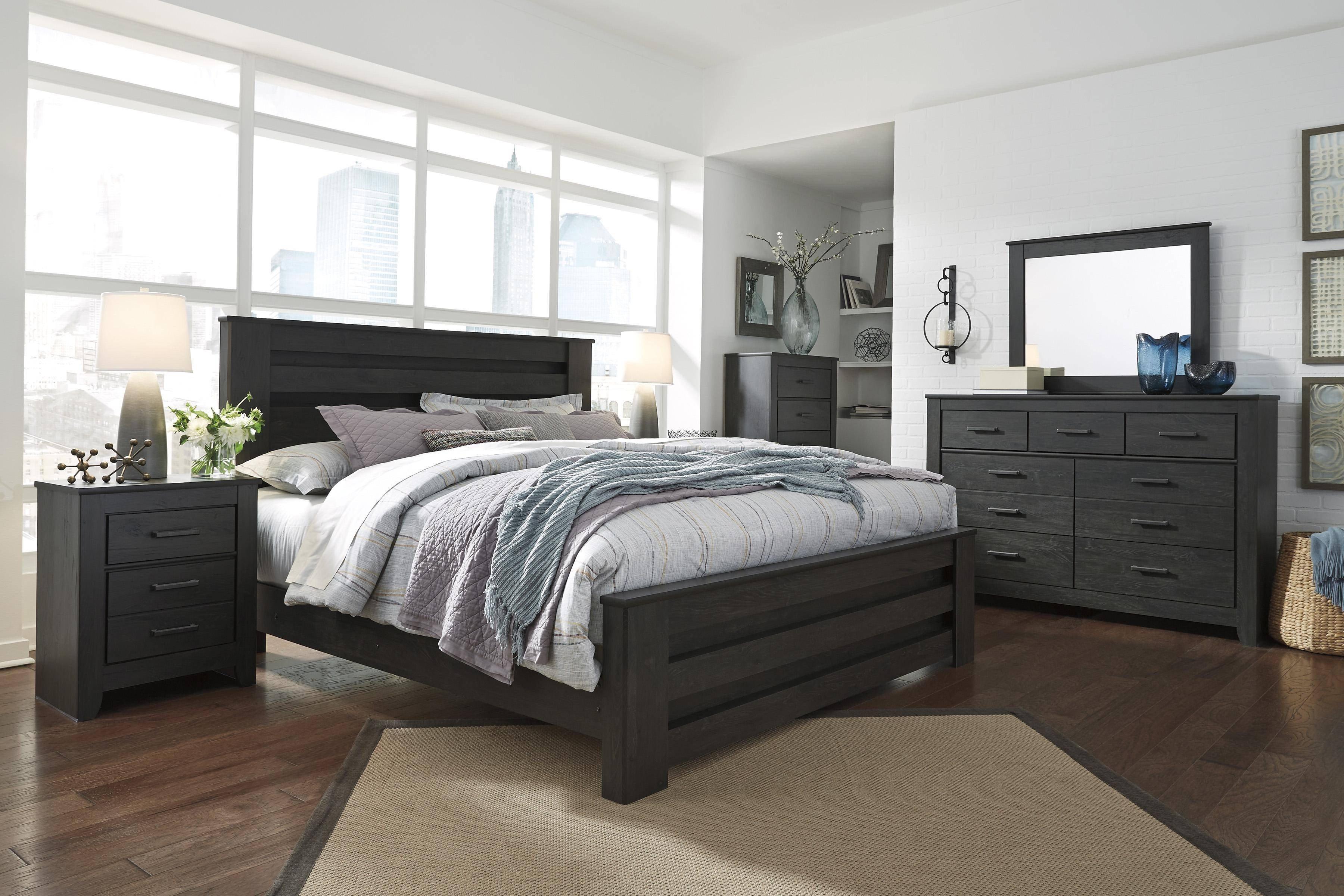 Bedroom Set ashley Furniture Awesome ashley Brinxton B249 King Size Platform Bedroom Set 5pcs In