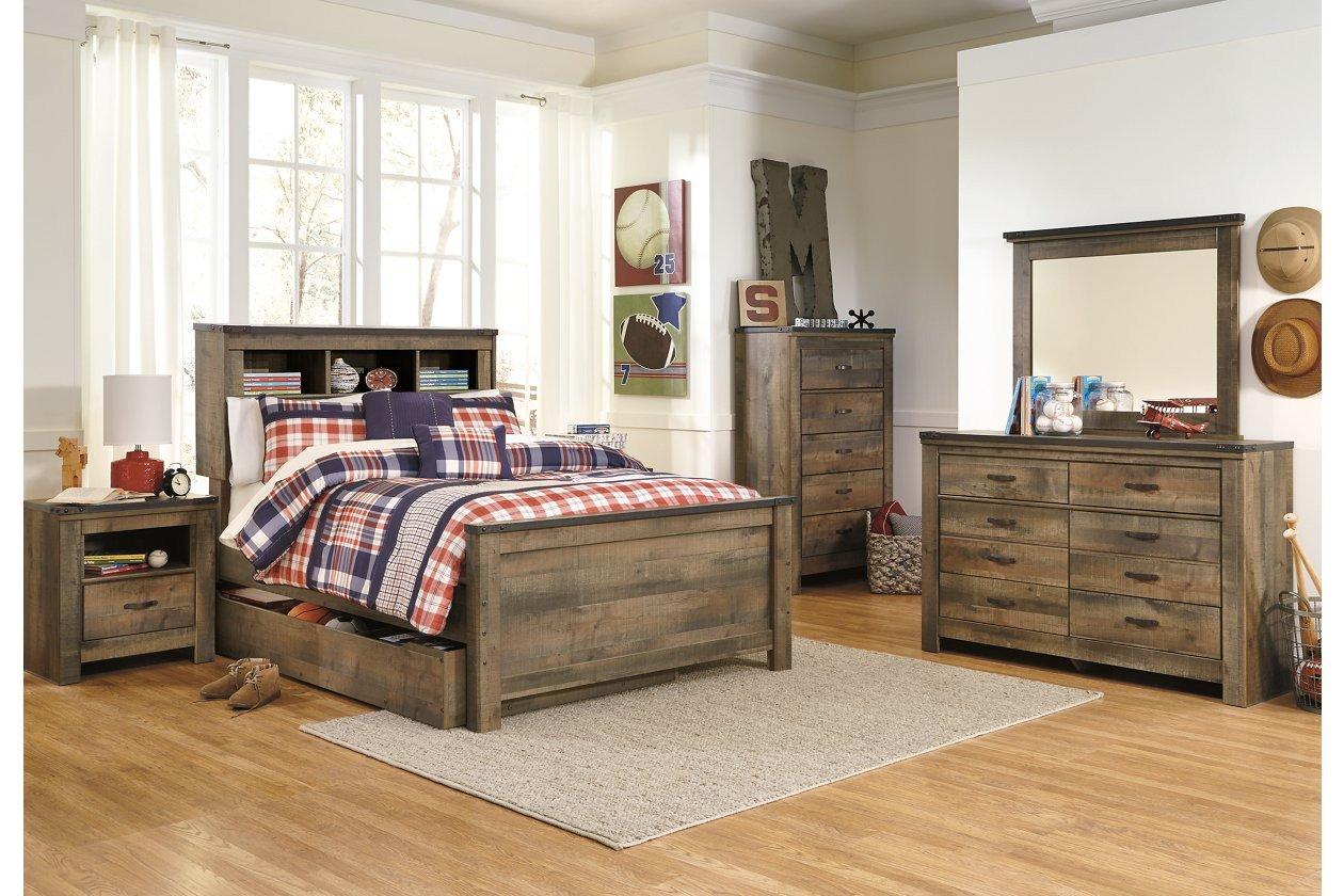 Bedroom Set ashley Furniture Inspirational Trinell Full Bookcase Headboard