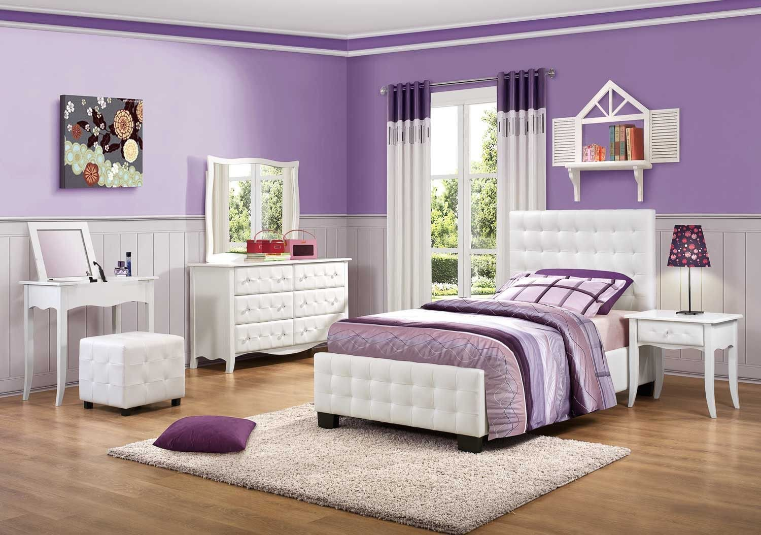 Bedroom Set for Girl Elegant Sparkle Bedroom