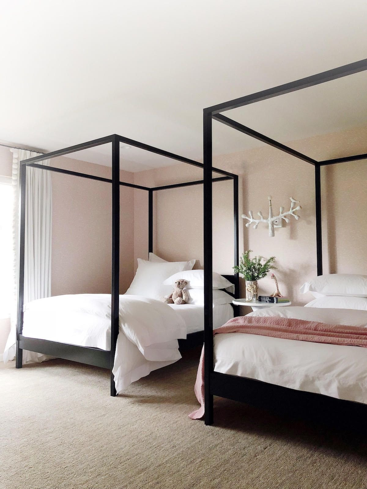 Bedroom Set for Girls Beautiful Cabana Canopy Bed No Footboard In 2020