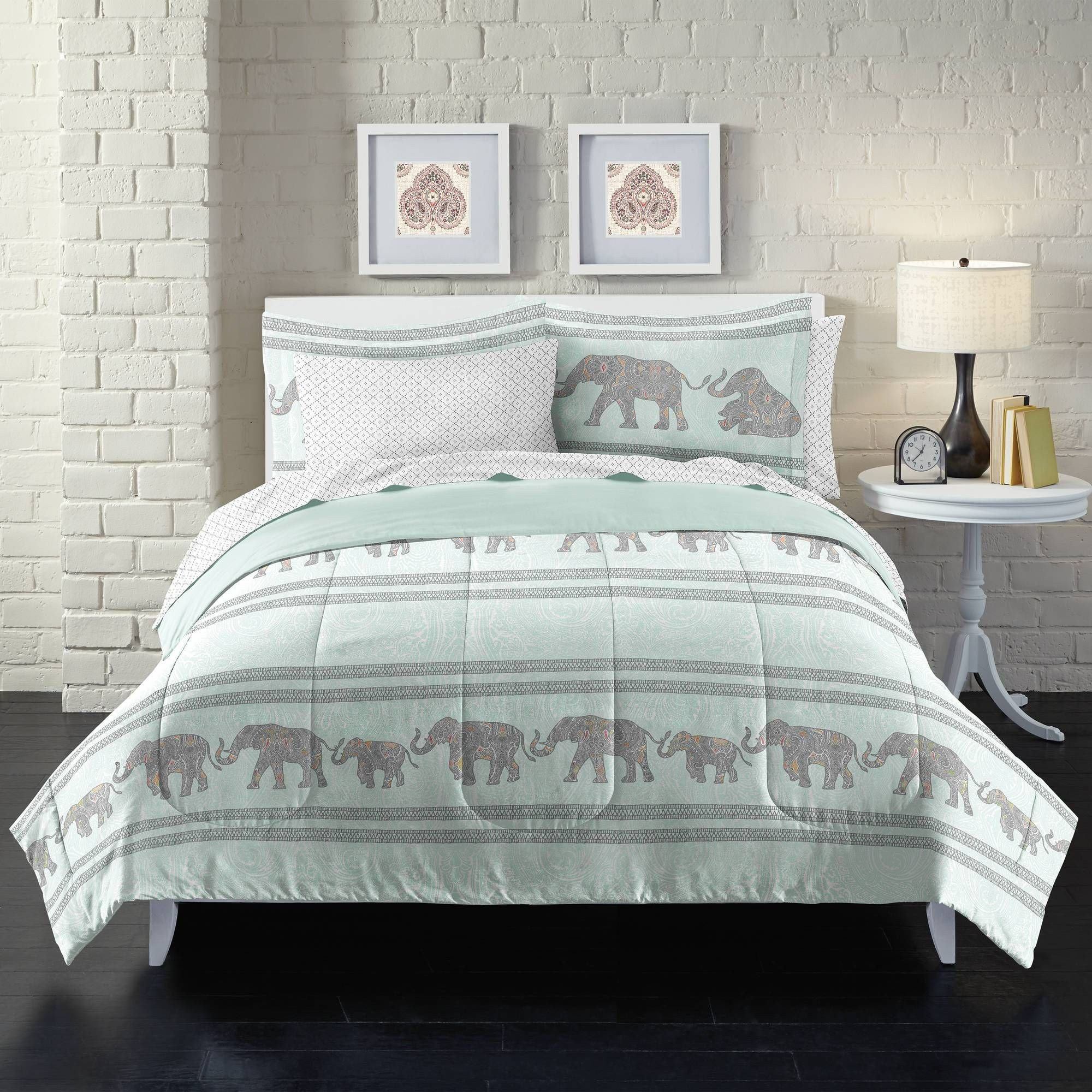 Bedroom Set Full Size Bed Beautiful Loft Style Boho Elephant Bed In A Bag Set Full Size New