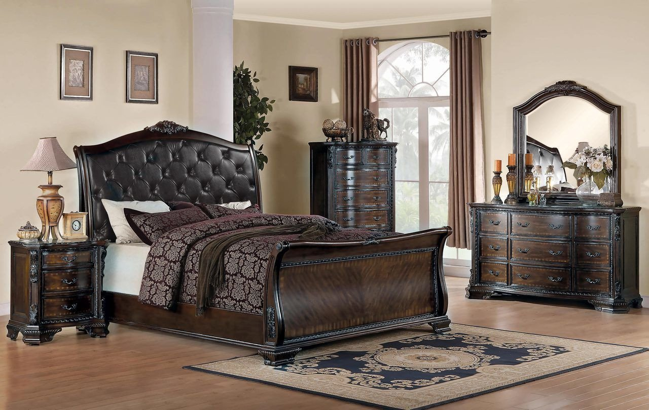 Bedroom Set San Diego Luxury Coaster Maddison Collection 5 Piece Upholstered Sleigh