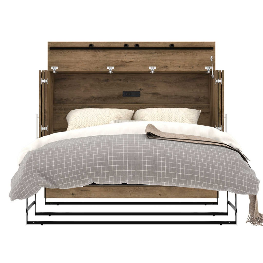 Bedroom Set with Mattress Beautiful Pur Full Cabinet Bed with Mattress
