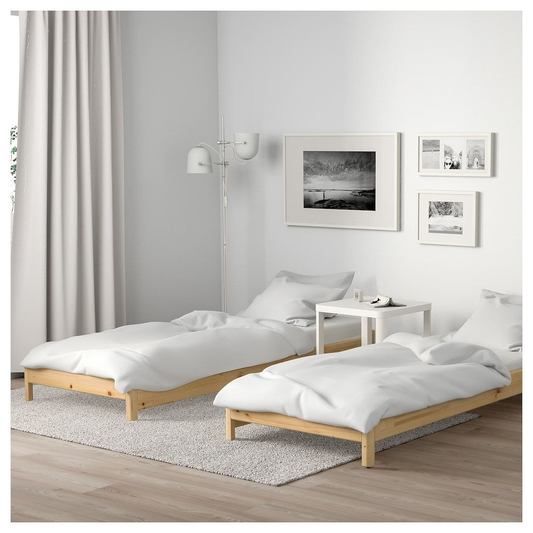 Bedroom Set with Mattress Included Unique Ut…ker Stackable Bed with 2 Mattresses Pine Husvika In