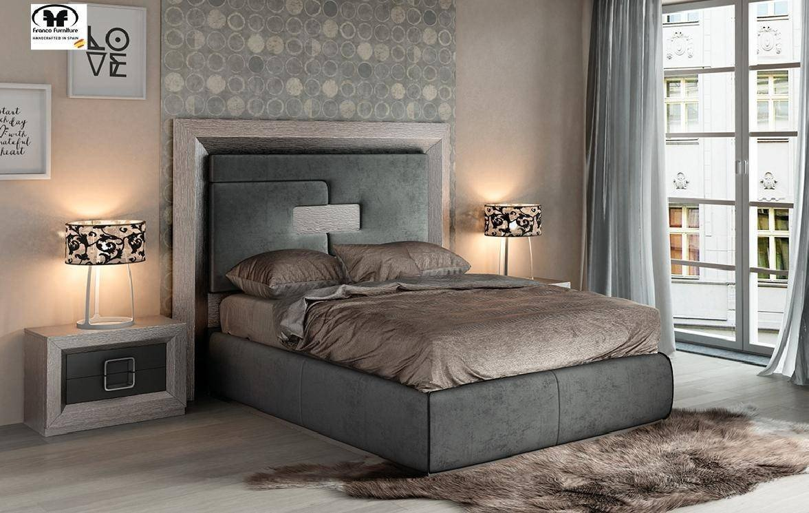 Bedroom Set with Mattress Luxury Esf Enzo King Platform Bedroom Set 5 Pcs In Gray Fabric