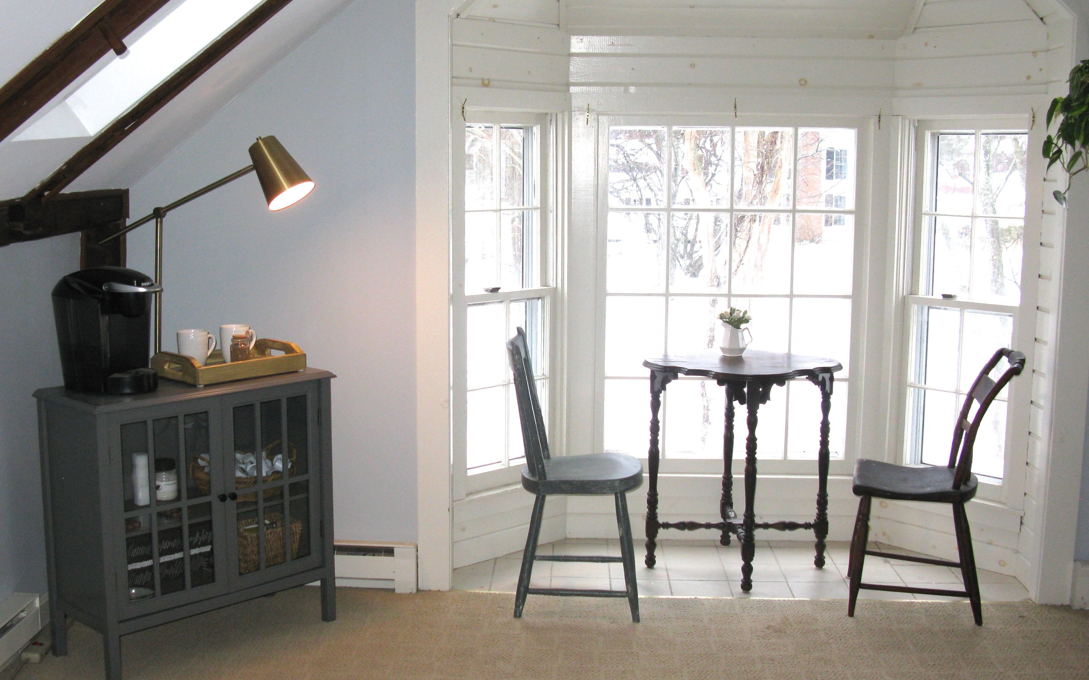 Bedroom Sitting area Ideas New Guest Bedroom Coffee Station Bay Window Bistro Small