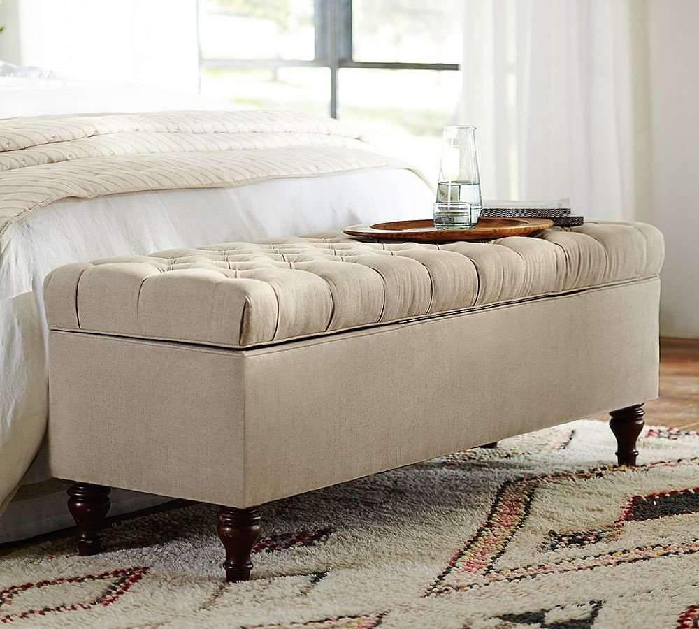 Bedroom Storage Bench Seat Awesome Lorraine Upholstered Tufted Storage Bench Chenille