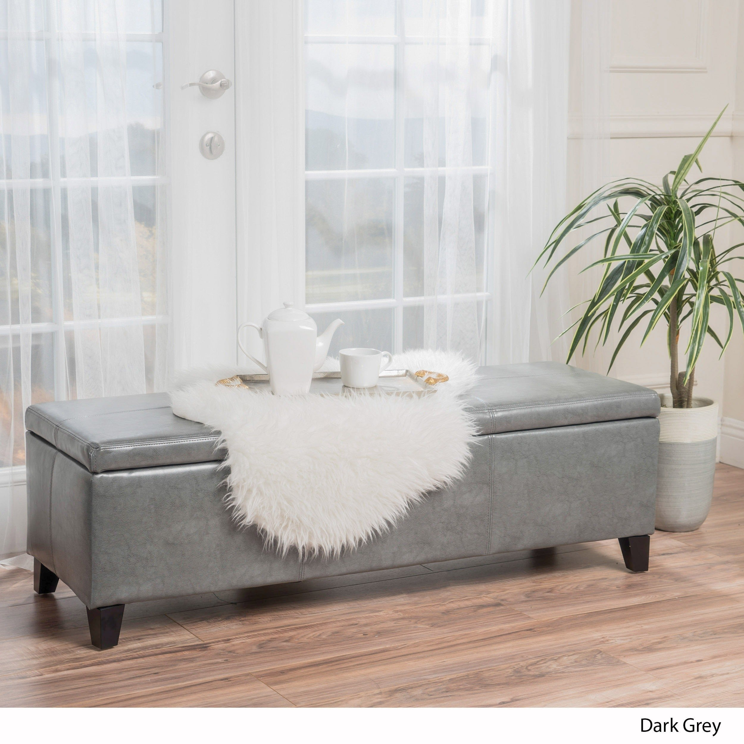 Bedroom Storage Bench Seat Lovely Lucinda Bonded Leather Stitched Storage Ottoman Bench by Christopher Knight Home