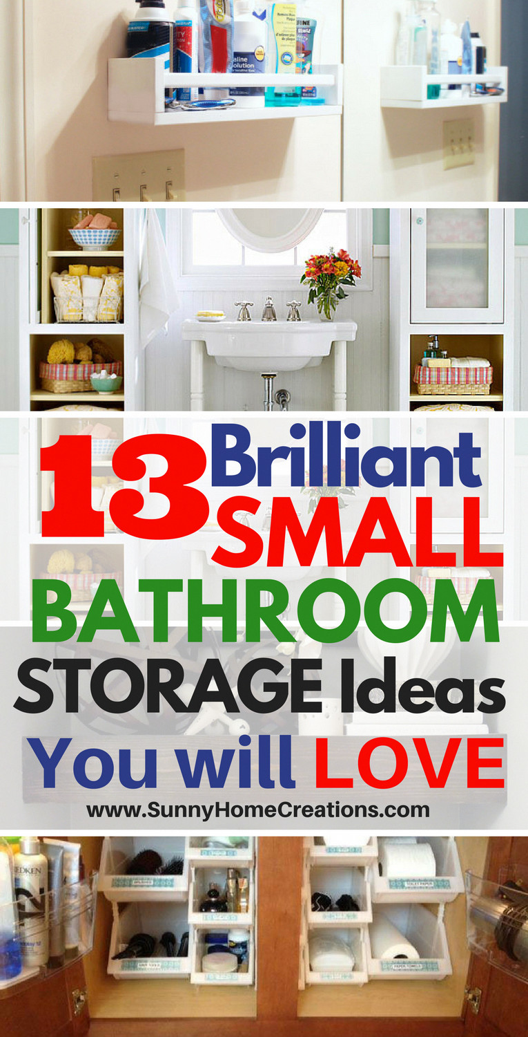Bedroom Storage Ideas for Small Rooms New 13 Mind Blowing Small Bathroom Storage Ideas
