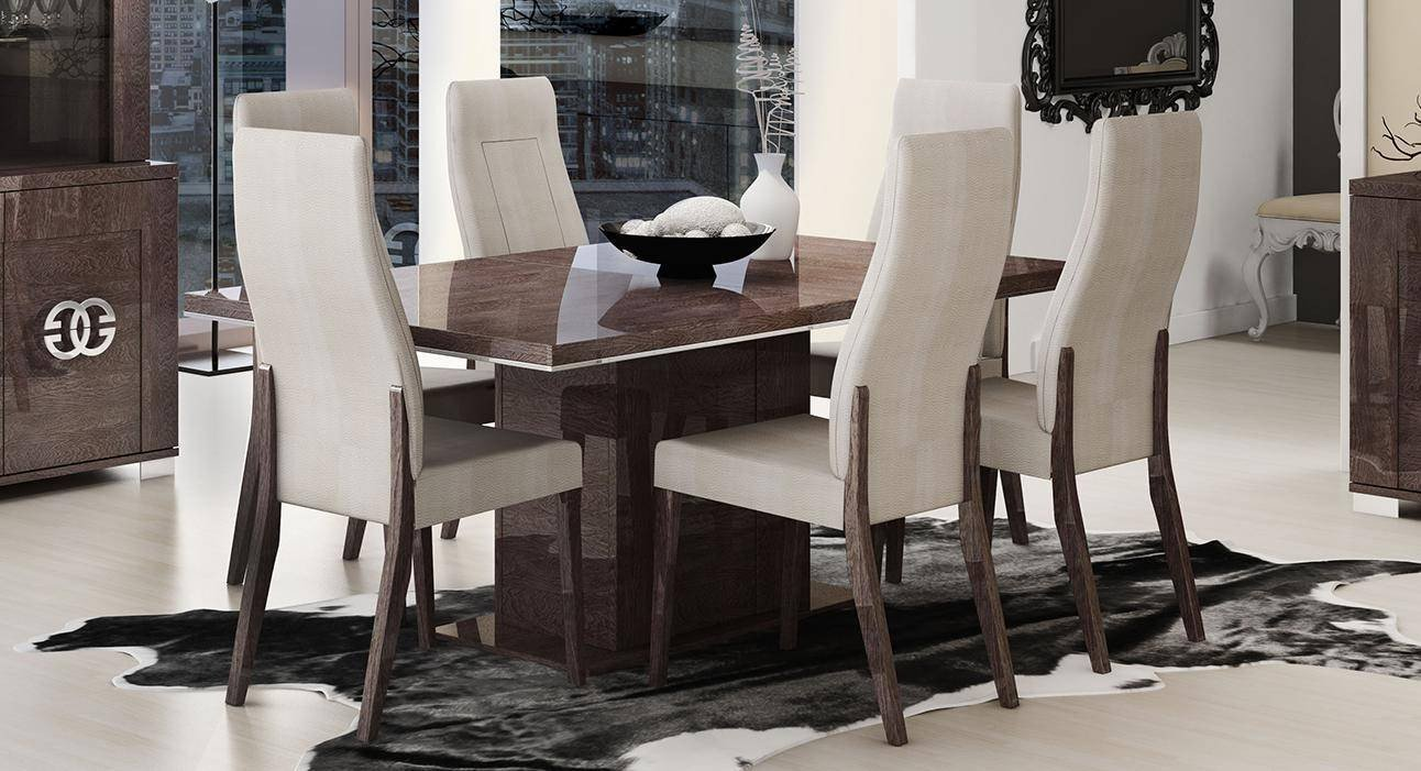 Bedroom Table and Chairs Best Of Esf Prestige High Gloss Wenge Dining Table Set 5pcs