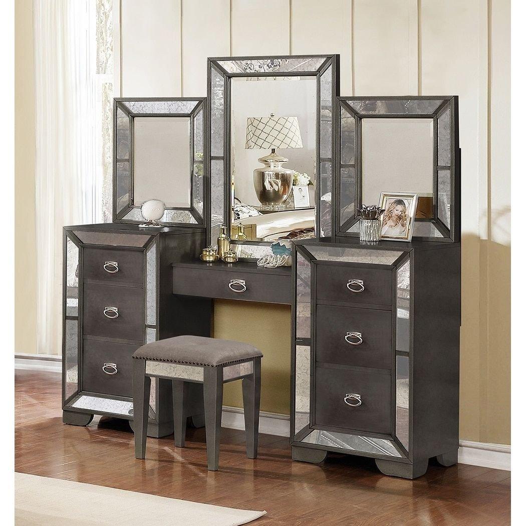 Bedroom Vanities for Sale Unique Best Quality Furniture Victoria 4 Piece Deluxe Vanity Black