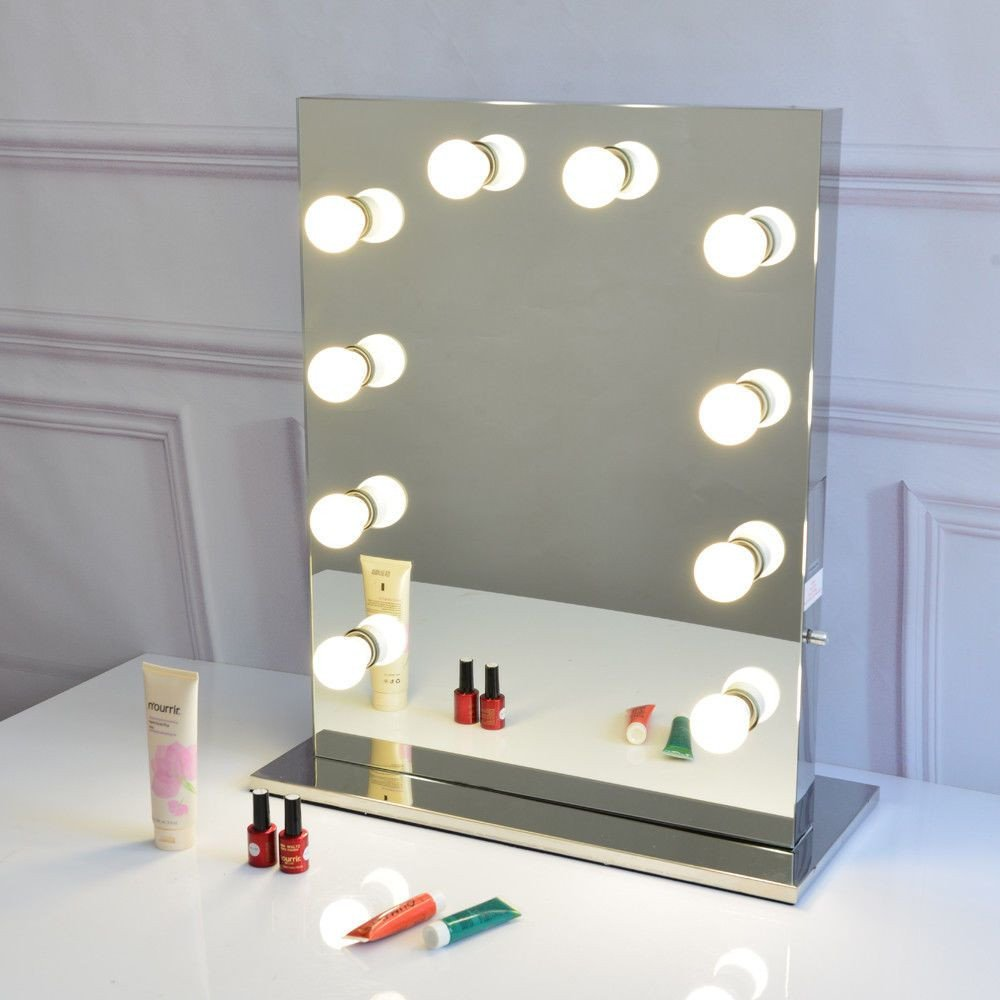 Bedroom Vanities with Light Beautiful 12 Decorate Full Size Led Globe Style Bulbs Included Free