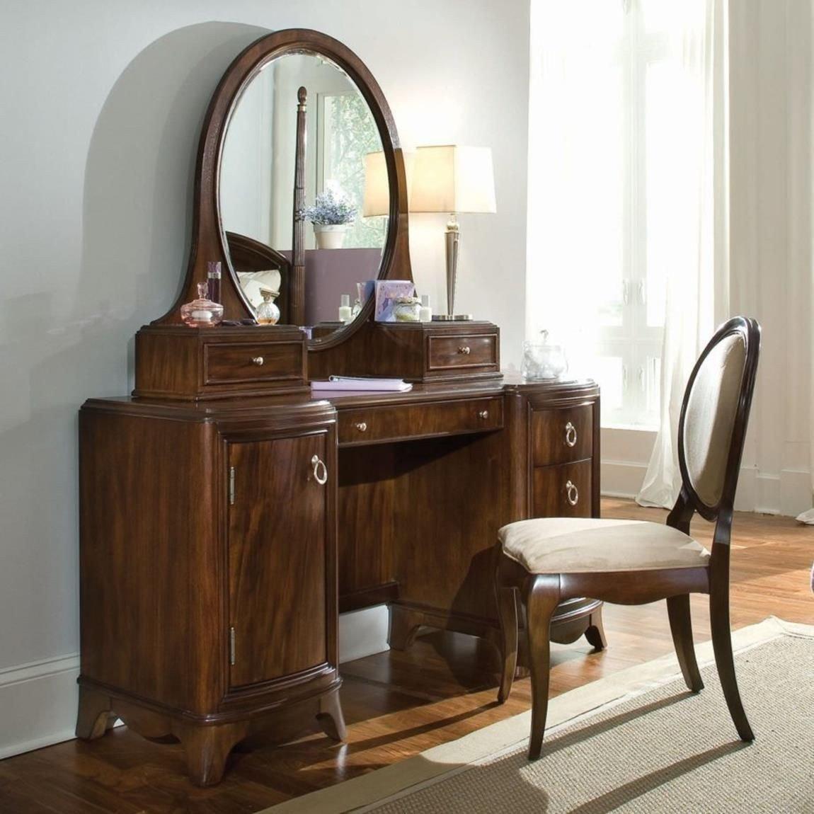 Bedroom Vanities with Light Elegant Bedroom Vanity Set with Lights Around Mirror 16