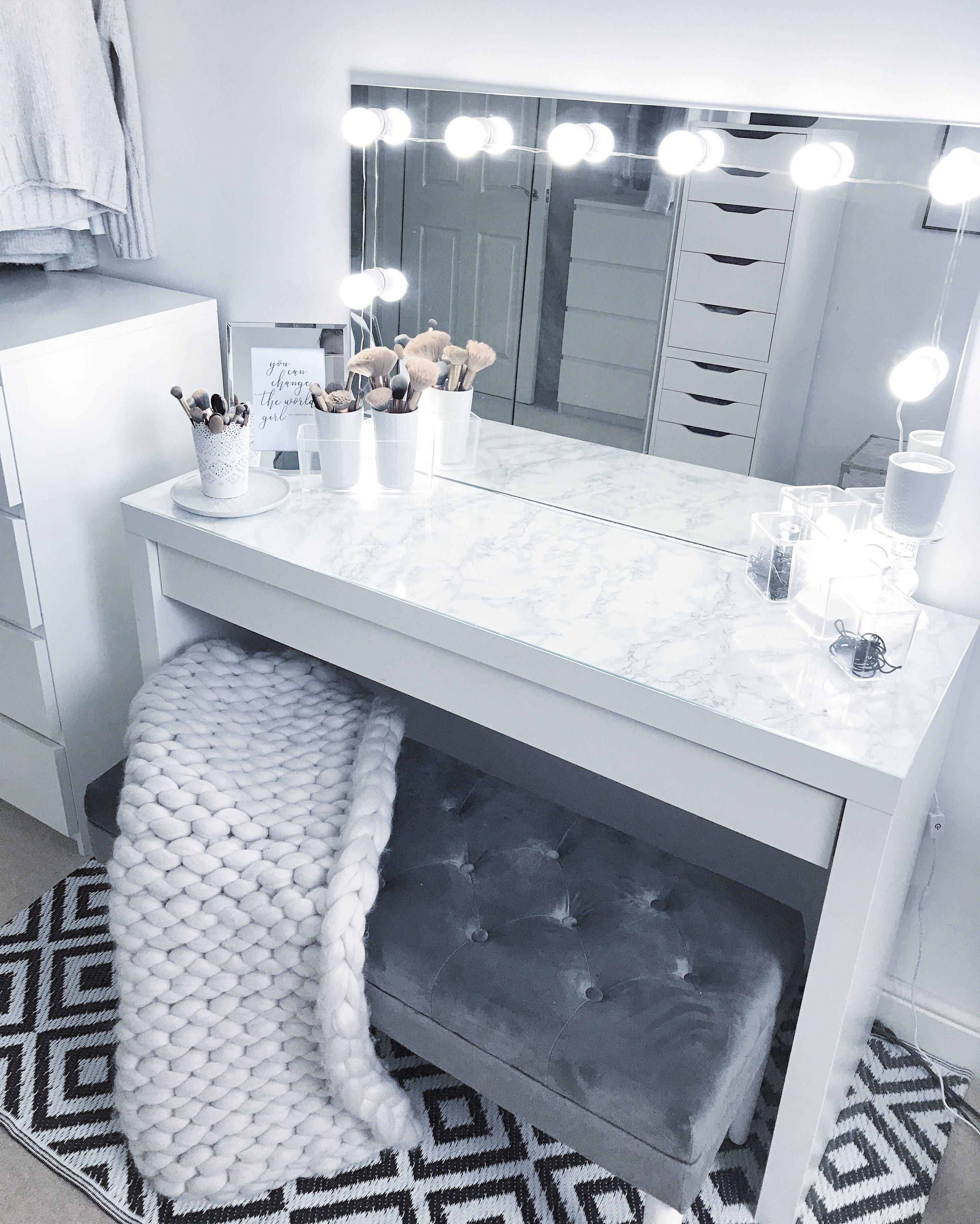 Bedroom Vanities with Light Elegant Grey Dressing Room Make Up Room Goals