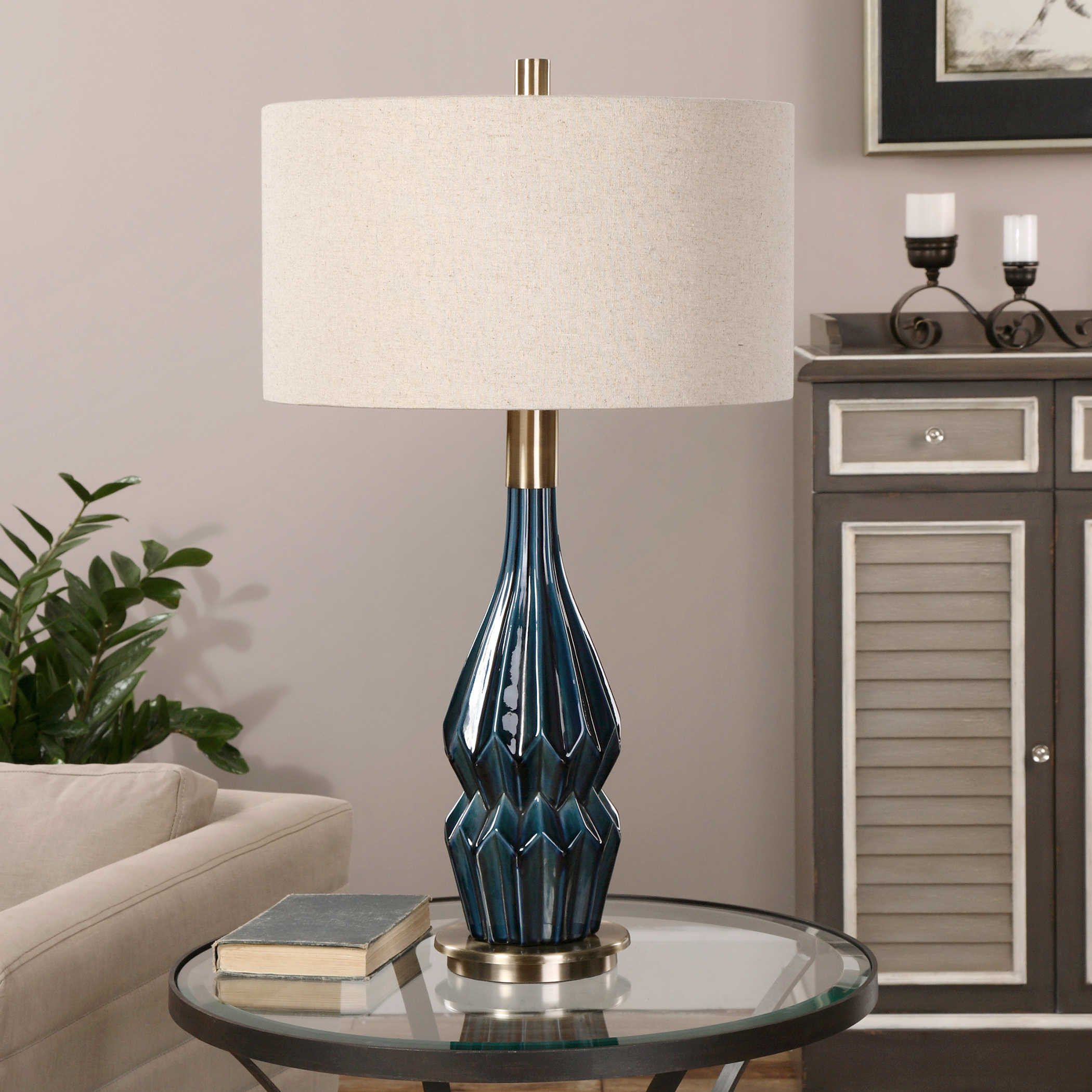 Bedroom Vanities with Light Lovely Prussian Table Lamp