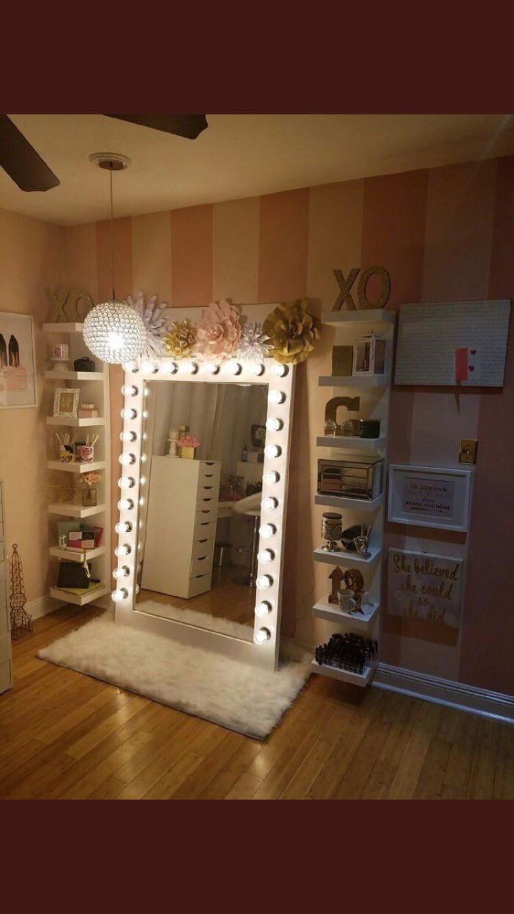 Bedroom Vanities with Light Luxury Jena Mirror In 2020