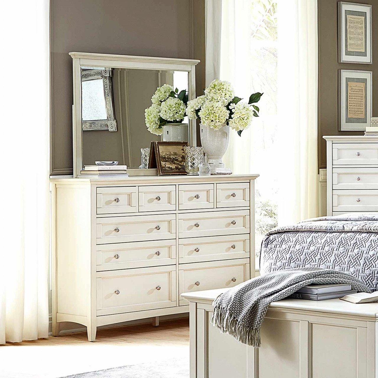 Bedroom Vanity with Drawers Elegant Antique Dresser with Mirror — Procura Home Blog
