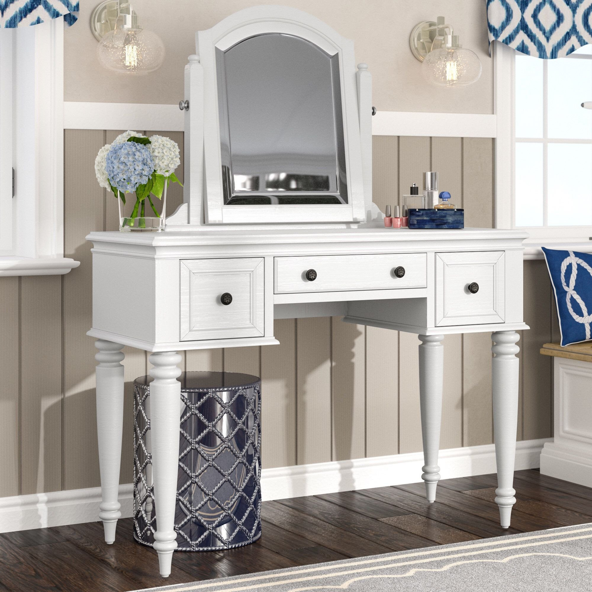 Bedroom Vanity with Drawers Elegant Harrison Vanity with Mirror In 2019 Guest Bedroom