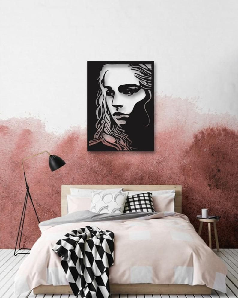 Bedroom Wall Art Decor Beautiful Game Of Thrones Khaleesi Metal Wall Art Wall Decor