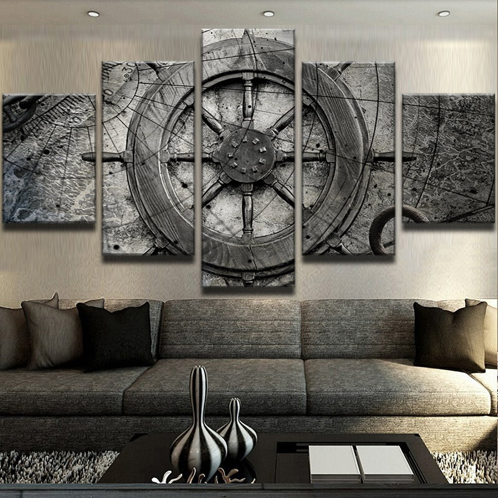 Bedroom Wall Art Decor Inspirational Captain Ships Wheel Canvas Wall Art Nautical Decor 5 Pc Set
