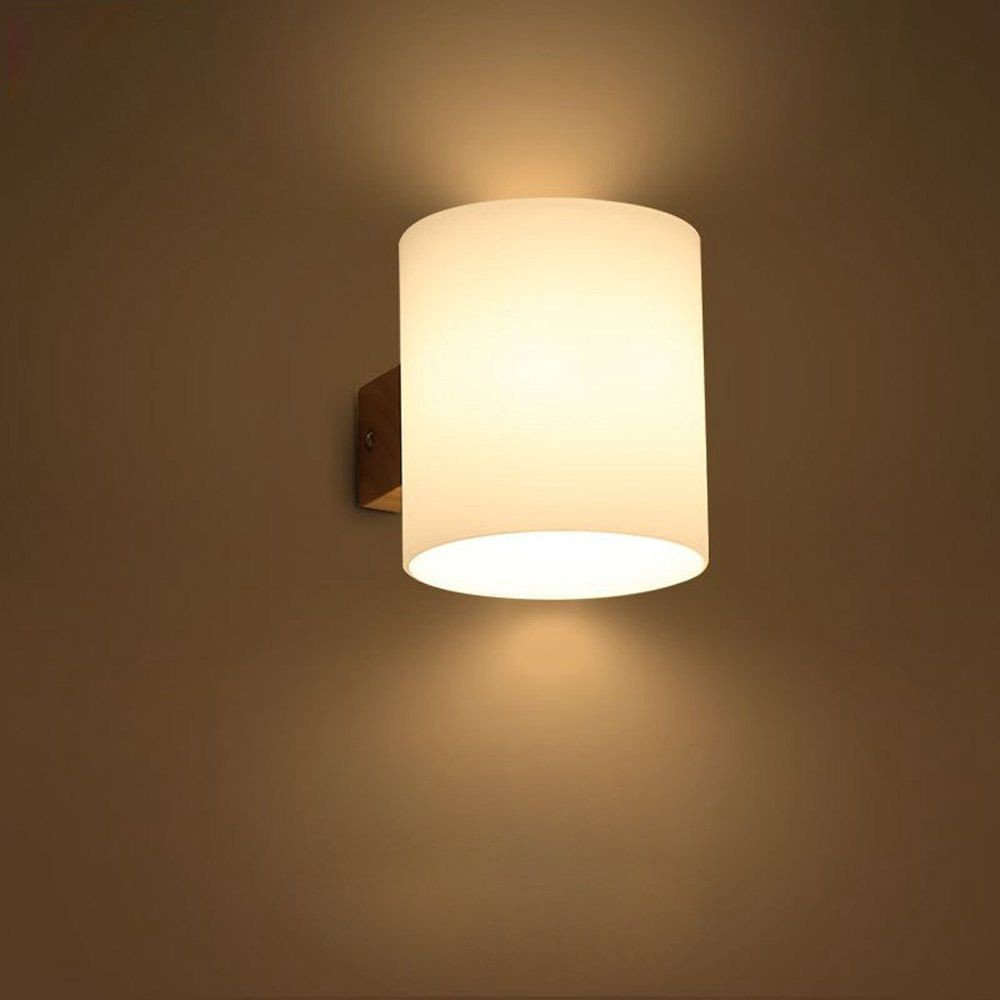 Bedroom Wall Light Fixtures Best Of Modern Wooden Glass Cylinder Bedroom Bedsides Wall Lamp