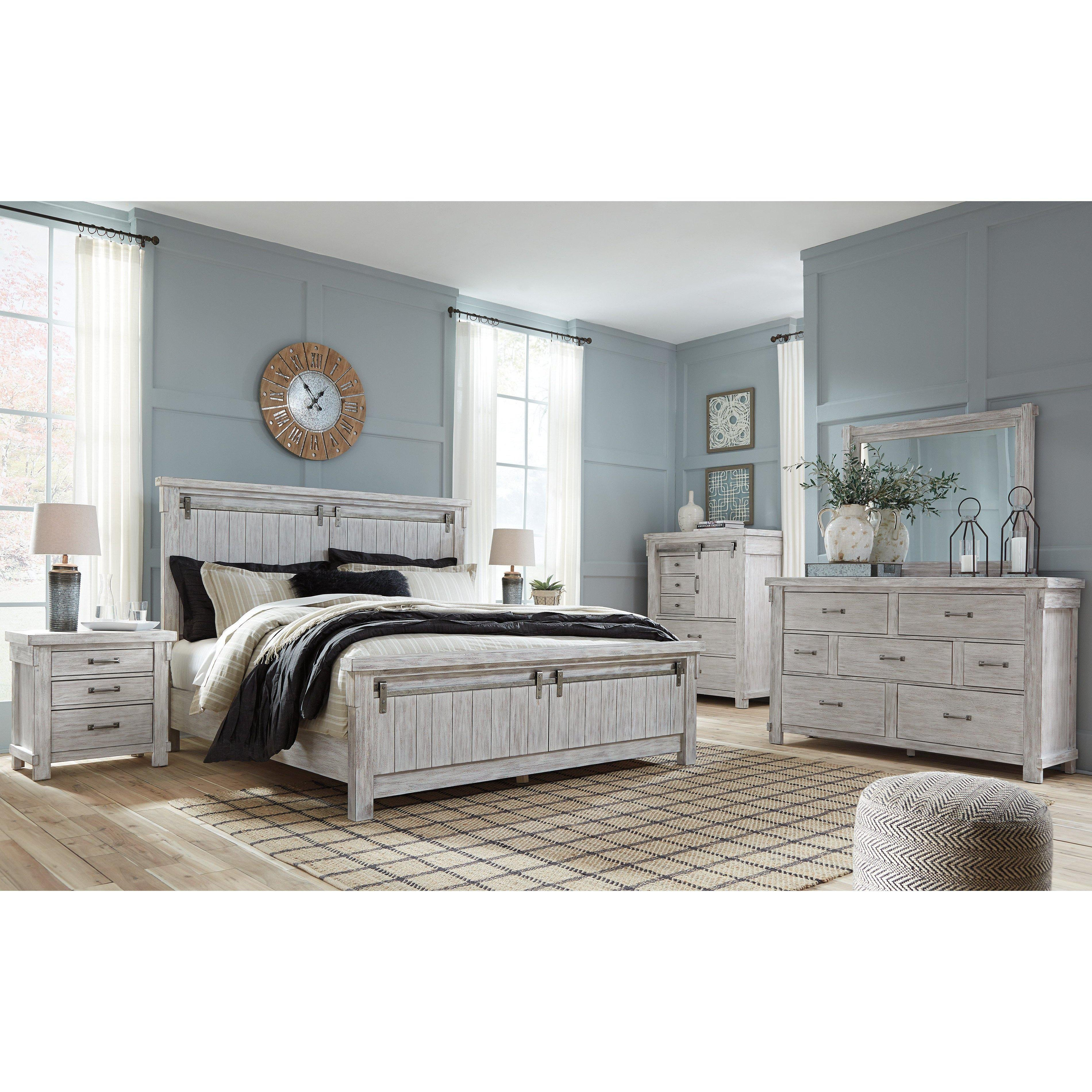 Bedroom Wall Units with Drawers Best Of Brashland Whitewash Bedroom Set