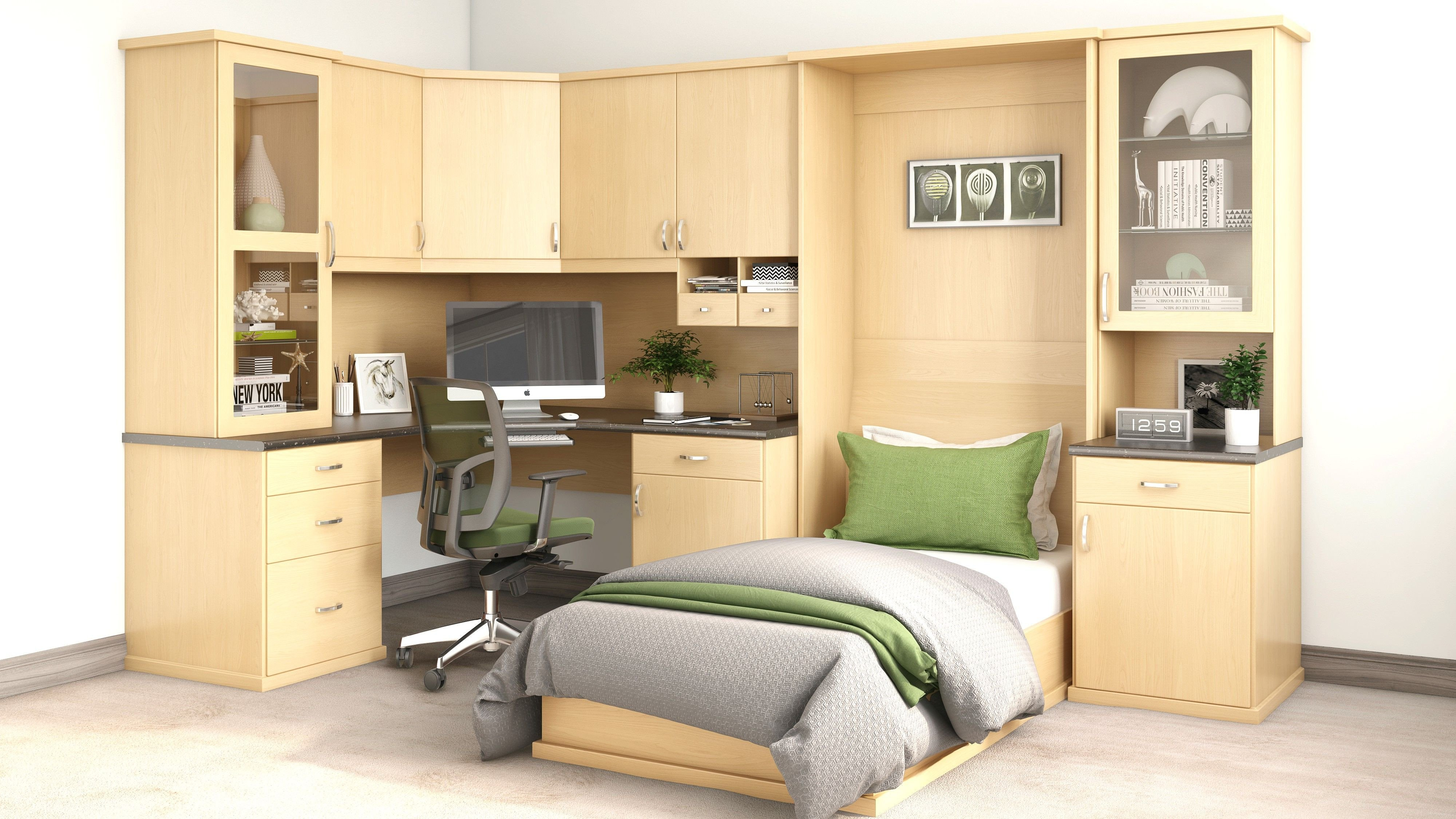 Bedroom Wall Units with Drawers Elegant Closet World Bedtec™ Wall Beds