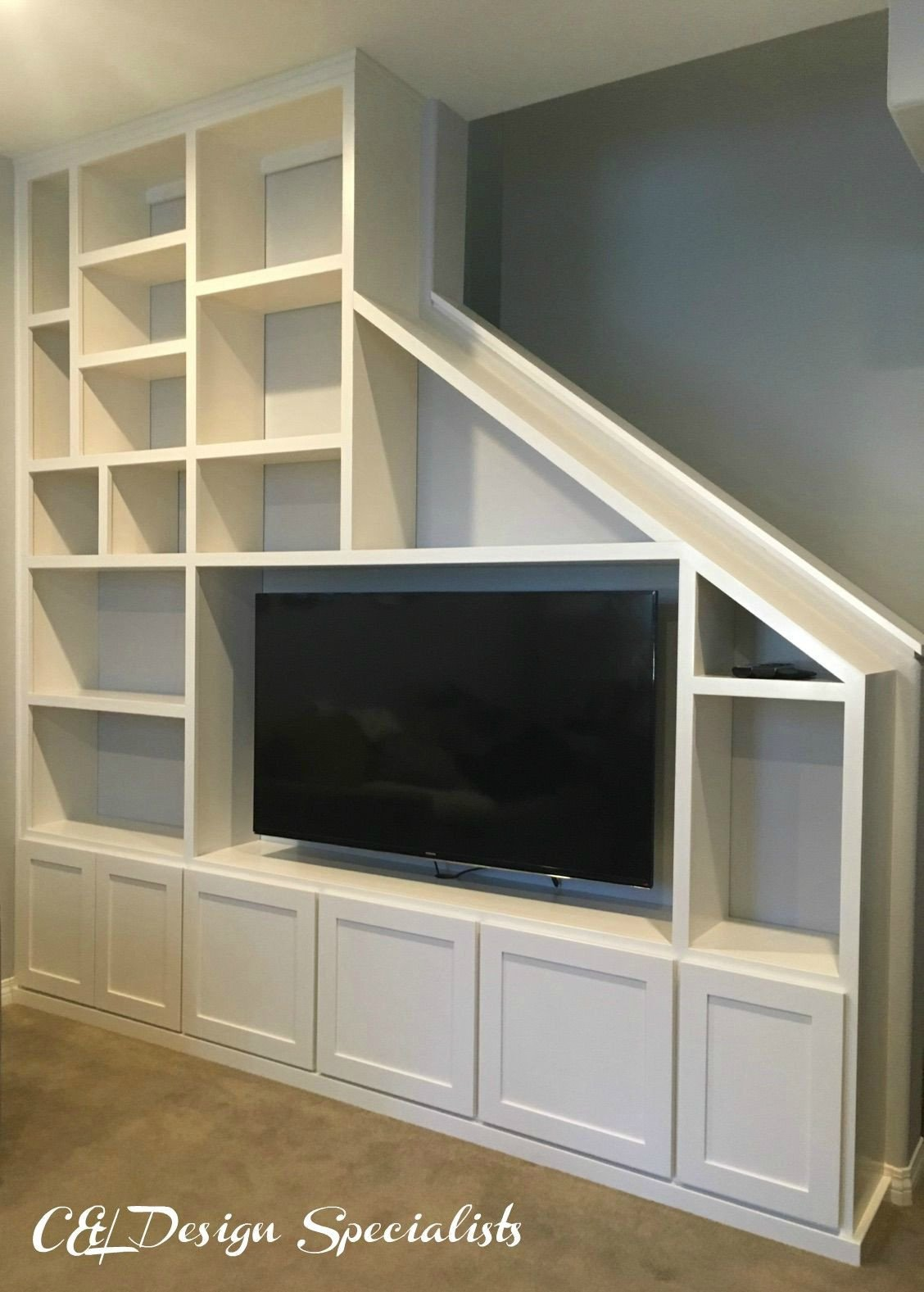 Bedroom Wall Units with Drawers Fresh Entertainment Center Designed to Fit Staircase Wall