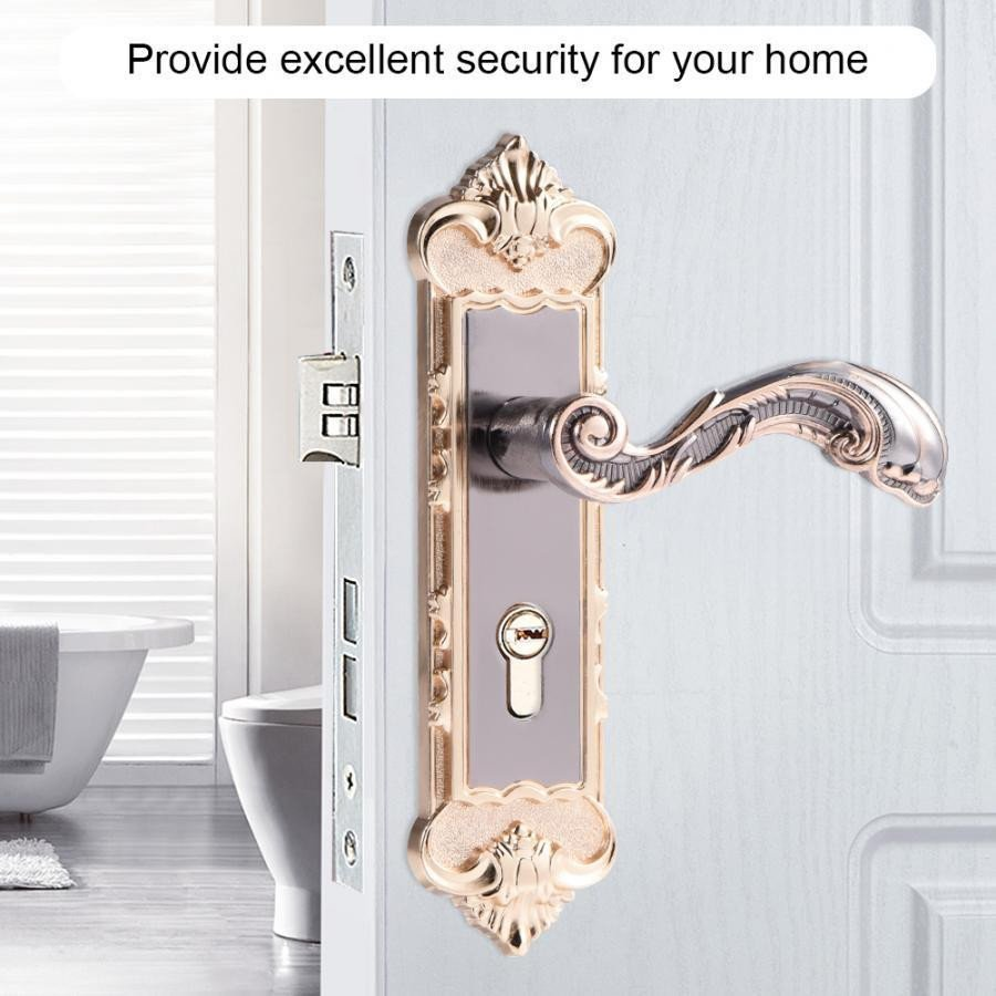 Best Bedroom Door Lock Elegant 2019 European Style Retro Door Handle Lock Aluminum Alloy Vintage Interior Bedroom Lock Anti theft Home Room Safety Door Locks T From Xue009