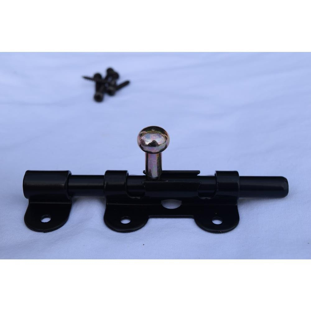 Best Bedroom Door Lock Inspirational 4 1 2 In Iron Black Barrel Sliding Lock