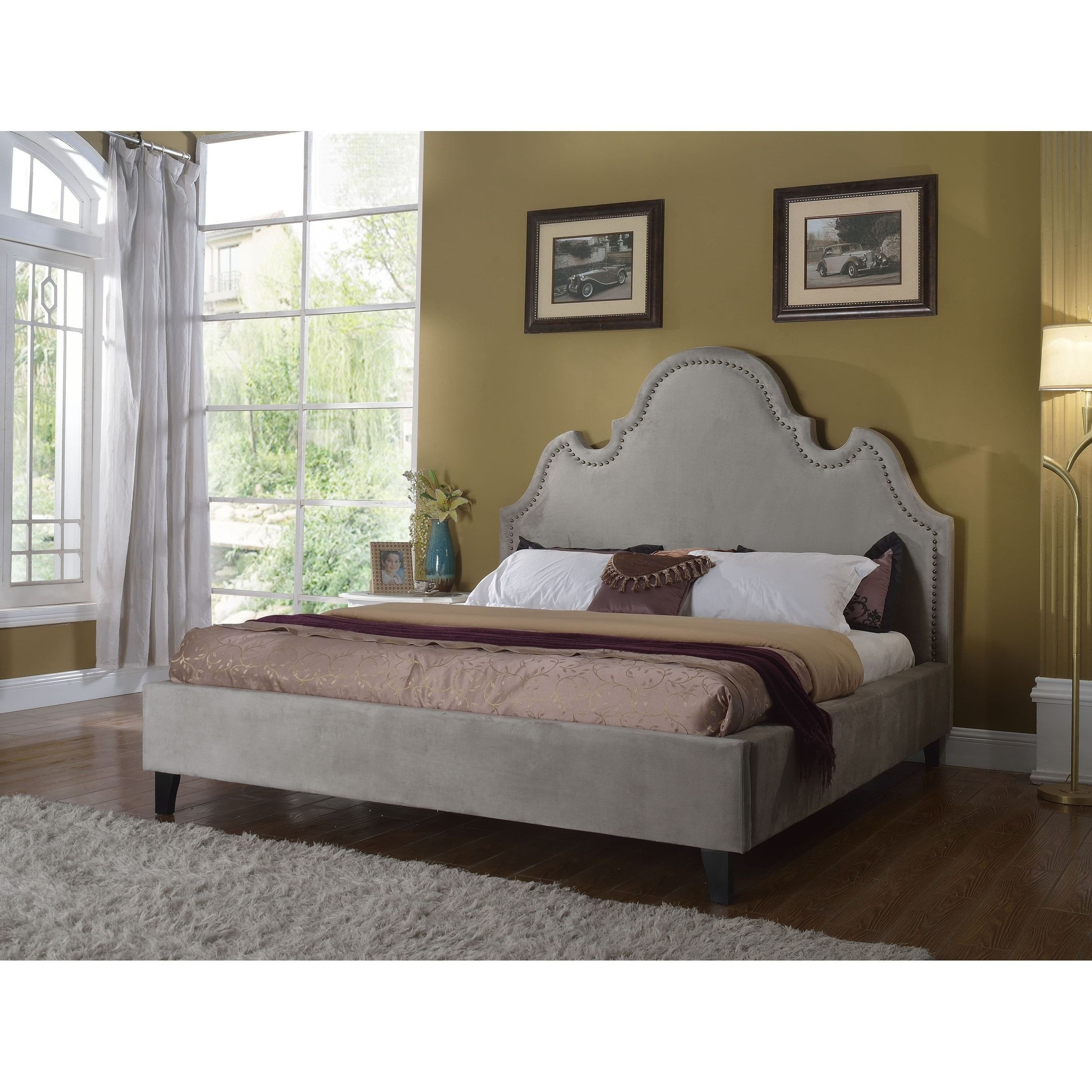Best Quality Bedroom Furniture Unique Best Master Furniture Gray Upholstered Platform Bed