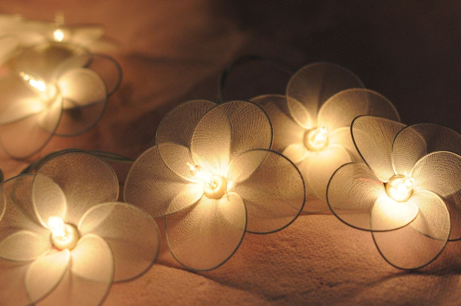 Best String Light for Bedroom Inspirational 20 Flower Handmade In White Color String Light Patio