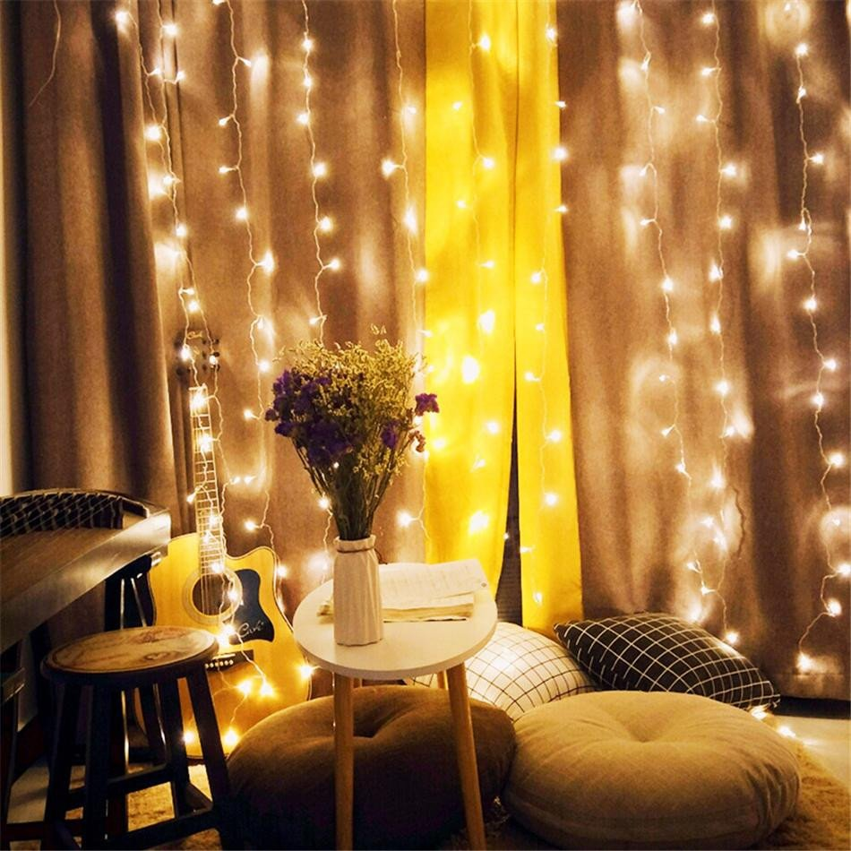 Best String Light for Bedroom Lovely New Curtain Light 9 8ft 300 Led Window Curtain String Light Wedding Party Home Garden Bedroom Outdoor Indoor Wall Decorations Warm White Christmas
