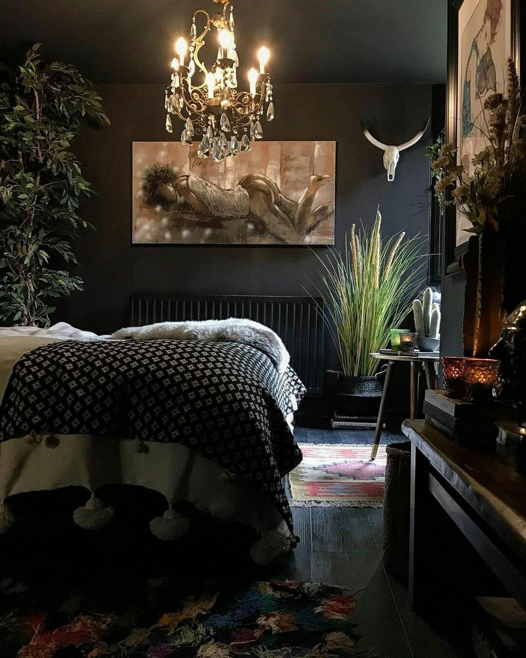 Black and Brown Bedroom Fresh Black Walls Dark Interior Decor