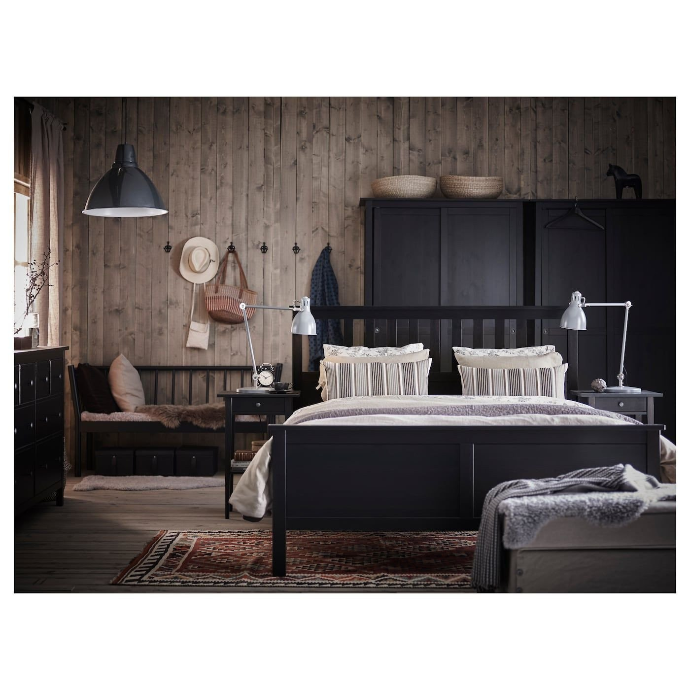 Black and Brown Bedroom Fresh Ikea Hemnes Bed Frame Black Brown Leirsund
