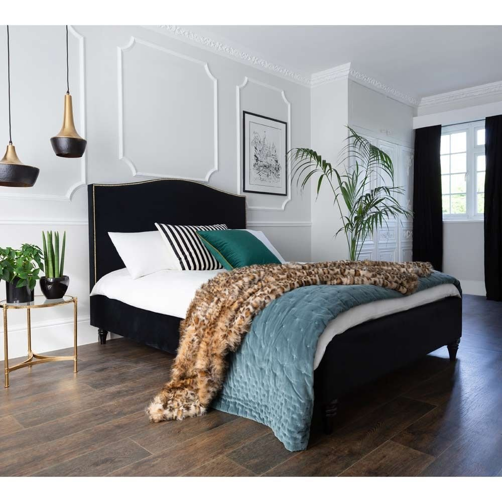 Black and Brown Bedroom Fresh soho Black Velvet Bed Double In 2020
