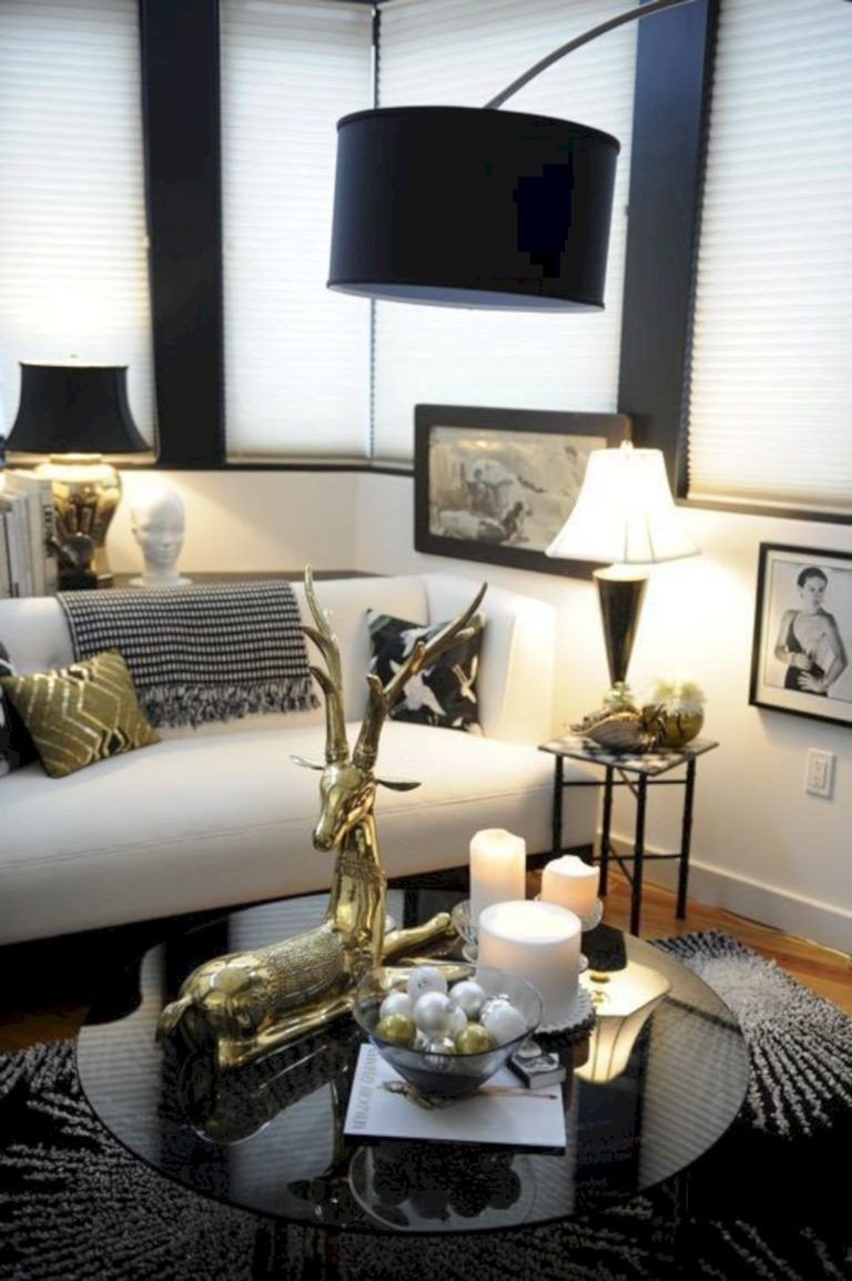 Black and Gold Bedroom Accessories Elegant Black White and Gold Living Room Design 15