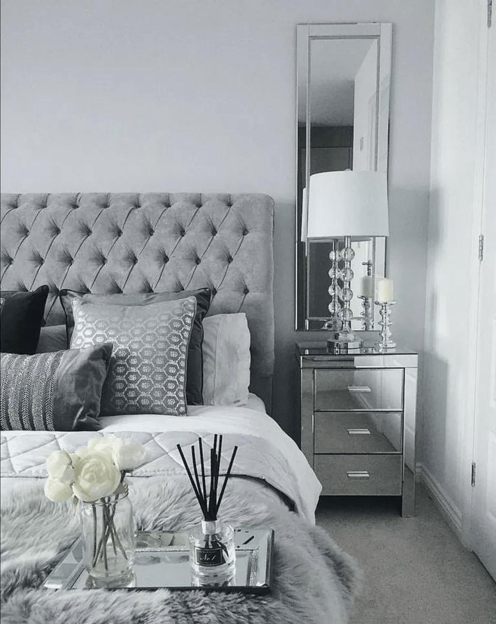 Black and Silver Bedroom Ideas Luxury 32 Popular Grey Bedroom Decoration Ideas In 2020